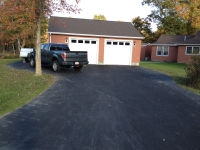 driveway and hydroseed